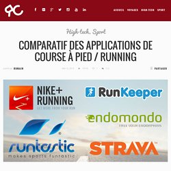 Comparatif des applications de running