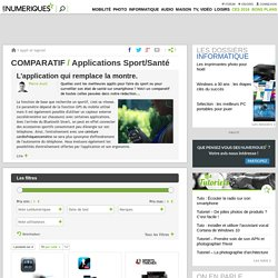 Comparatif : Applications Sport/Santé