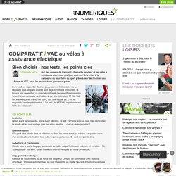 Comparatif : VAE ou vélos à assistance électrique