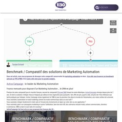 Benchmark / Comparatif des solutions de Marketing Automation