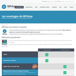 Comparatif avantages avec WPshop e-commerce WordPress