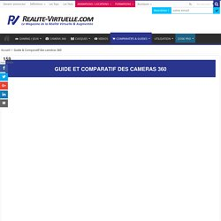 Guide & Comparatif caméras 360 - Quelle caméra 360 choisir ?