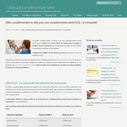 CMU et ACS : Le comparatif des 2 aides à la complémentaire santé