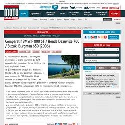 Comparatif BMW F 800 ST / Honda Deauville 700 / Suzuki Burgman 650