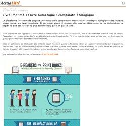 Livre imprimé et livre numérique : comparatif écologique