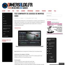 Test comparatif de logiciels de montage vidéo