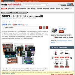 DDR3 : intérêt et comparatif : Introduction