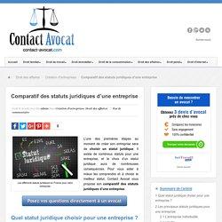 Comparatif des statuts juridiques d'une entreprise