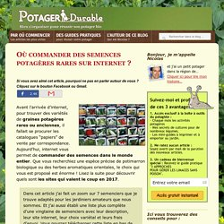 Comparatif des meilleurs sites de vente de semences potagères
