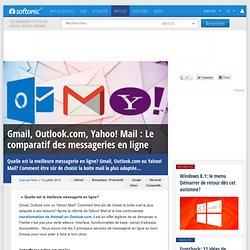 Gmail, Outlook.com, Yahoo! Mail: Le comparatif des messageries en ligne