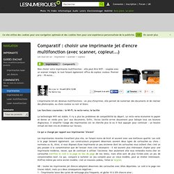 Comparatif : choisir une imprimante jet d'encre multifonction (avec scanner, copieur...)
