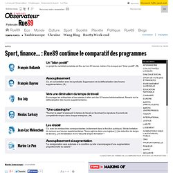 Sport, culture, finance... : on continue la comparaison des programmes