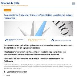 Comparatif de 9 sites sur les tests d'orientation, coaching et autres ressources