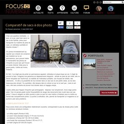 Comparatif de sacs à dos photo