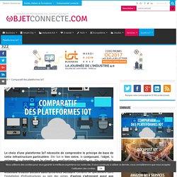 Comparatif plateforme IoT - Les plateformes objets connectés