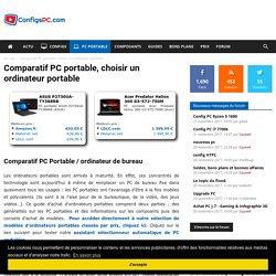 Comparatif PC portable, choisir un ordinateur portable