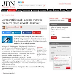 Comparatif cloud : Numergy détrône Google sur les performances