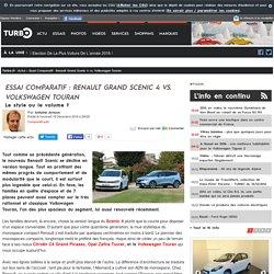 Essai Comparatif : Renault Grand Scenic 4 vs. Volkswagen Touran