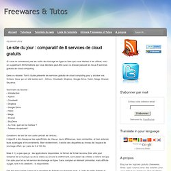 comparatif de 8 services de cloud gratuits