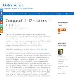 Comparatif de 12 solutions de curation