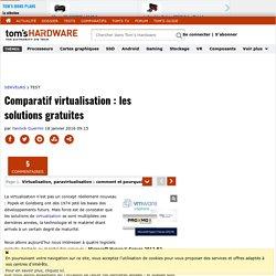Comparatif virtualisation : les solutions gratuites