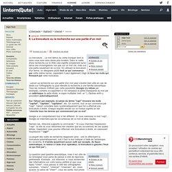 ADSL, Comparatifs, Spam, Virus, Moteurs de recherche