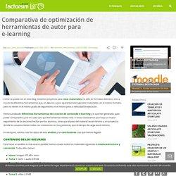 Comparativa de herramientas de autor para e-learning