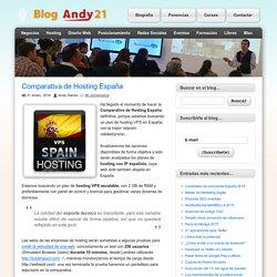 Comparativa de Hosting España