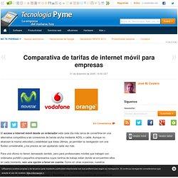 Comparativa de tarifas de internet móvil para empresas