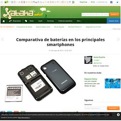 Comparativa de baterías en los principales smartphones