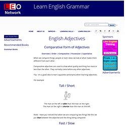 Comparative Adjectives - English Grammar