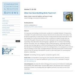 Comparative Cognition & Behavior Reviews