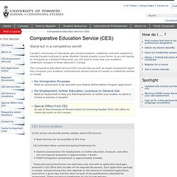 Comparative Education Service (CES) - School of Continuing Studies