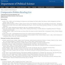 Comparative Politics Reading List