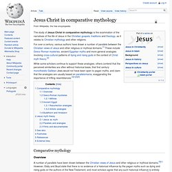 Jesus Christ in comparative mythology