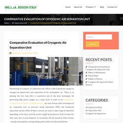 Comparative Evaluation of Cryogenic Air Separation Unit - Air Separation Plant