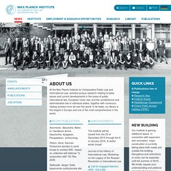 Max Planck Institute for Comparative Public Law and International Law