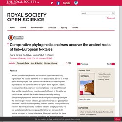 Comparative phylogenetic analyses uncover the ancient roots of Indo-European folktales