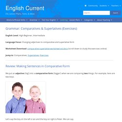 English Grammar: Comparative & Superlative Adjective Forms (Rules & Exercises)