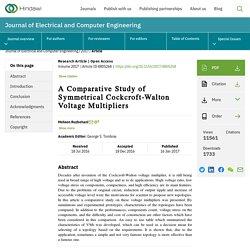A Comparative Study of Symmetrical Cockcroft-Walton Voltage Multipliers