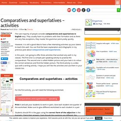 Comparatives and superlatives - activities