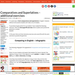Comparatives and Superlatives - additional exercises