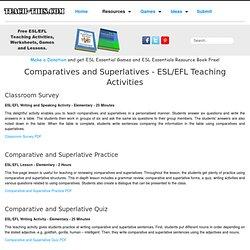Comparatives - Superlatives