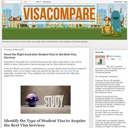 Visa Compare: Know the Right Australian Student Visa to Get Best Visa Services
