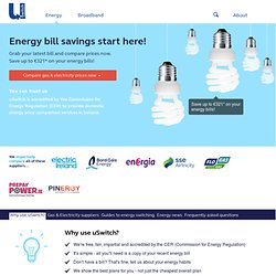 Cheapest Gas and Electricity – uSwitch.ie