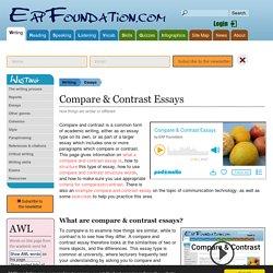 Compare & Contrast Essays