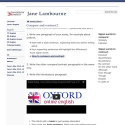 Compare and contrast 2 - Jane Lambourne