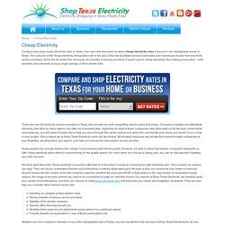 Compare Cheap Electricity - Electric Rates Texas