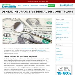 Save Money & Compare Dental Insurance vs Discount Dental Plans