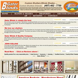 Compare Plantation Shutters Orlando - Gator Blinds® # 1 Plantation shutters